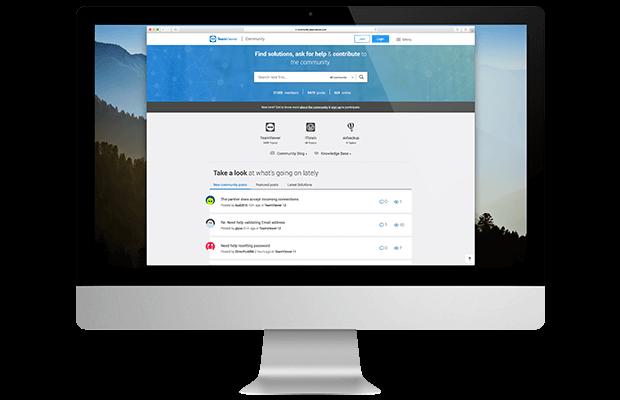 Ein Screenshot unserer TeamViewer-Community, die die Zusammenarbeit bei Ideen sowie das Wachstum fördert.