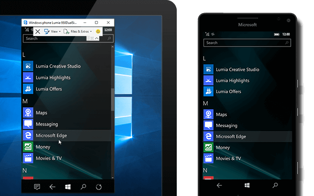 Aplikace TeamViewer QuickSupport na Windows 10 Mobile.